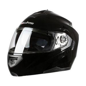 CASQUE MOTO SCOOTER Casque moto intégral modulable S520 Noir L adulte