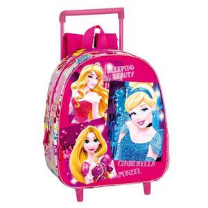 CARTABLE Sac à dos à roulettes maternelle Princesse Stars 2