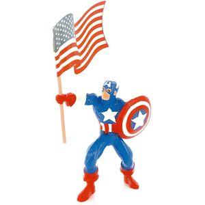 FIGURINE - PERSONNAGE Figurine Marvel : Captain America avec drapeau
