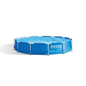 PISCINE INTEX Kit Piscinette tubulaire ronde Ø3,66 x 0,76m