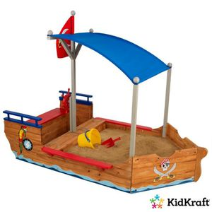 BAC À SABLE KIDKRAFT Bac à sable enfant Bateau Pirate des Sabl
