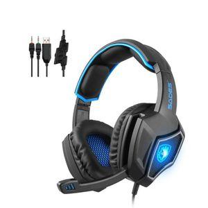 CASQUE AVEC MICROPHONE Casque PS4 Gaming,Casque Gamer Professionnel Audio