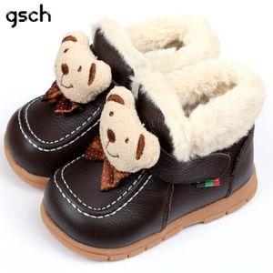 BOTTINE GSCH Bottes de neige cuir bébé bottes hiver Bea...