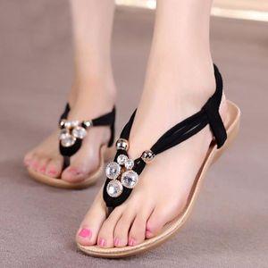 23ef7e0cd4b67 CHAUSSON - PANTOUFLE Femmes pantoufle d été perlé bohème sandales plage ...