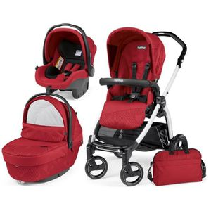 POUSSETTE  TRIO BOOK PEG PEREGO GEO RED (CHASSIS S BLANC/NOIR