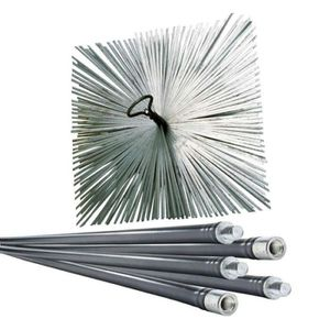 ACCESSOIRES RAMONAGE Lot de ramoneur 7m + 1 hérisson acier 250mm