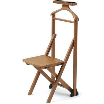 Arredamenti Italia Valet de nuit DUKA, bois - Avec chaise - Pliable ...