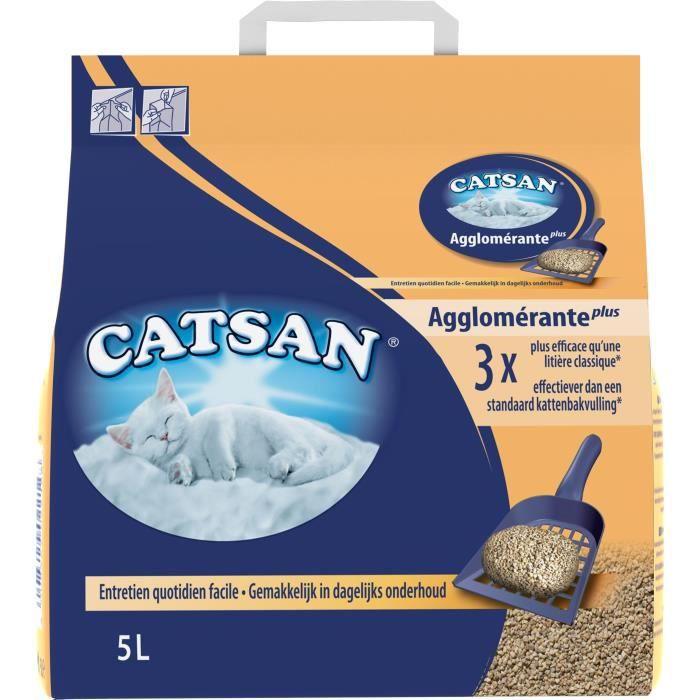 CATSAN Litière compacte - Pour chat -5L