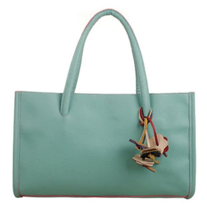 Flowers Frankmall Bag Handbags Tote Girls Zy7421 fashion Shoulder Candy Leather Color 6w67Pa8