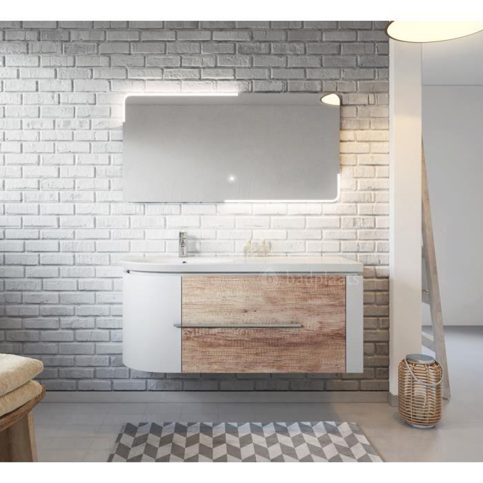 Meuble de salle de bain Pablo 120cm lavabo nature wood – Armoire de ...