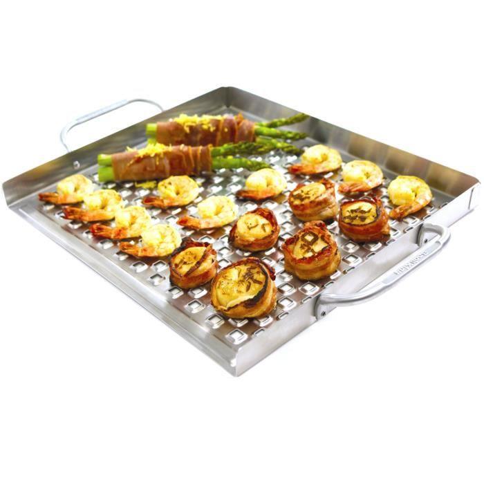 Grille plate sur lev e pour barbecue inox achat vente - Grille pour barbecue sur mesure en acier inox ...