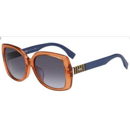 31bb3e900be075 Achetez Lunettes de soleil Fendi Femme FF 0014 F S 7TC (HD) orange et bleu