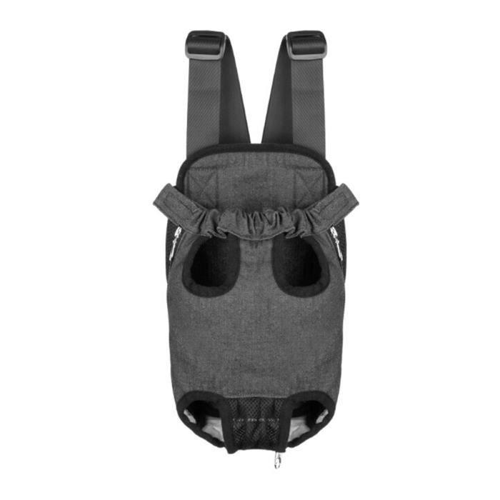Sac De Transport Ventral Poitrine Pour Animaux Chien Chat- Taille Xl(noir Jean)