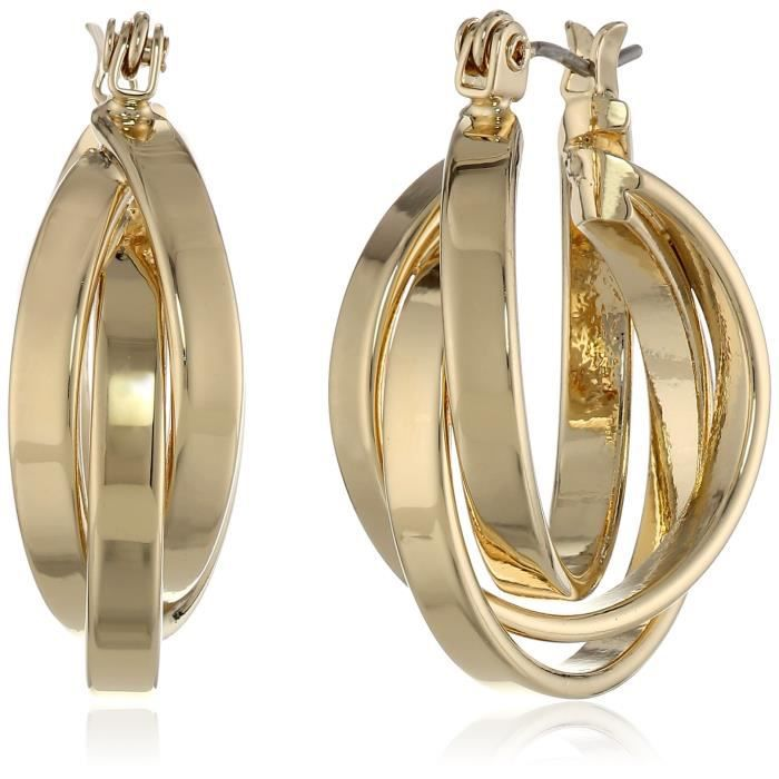 Kenneth Cole New York Gold Twisted Hoop Earrings CMR37