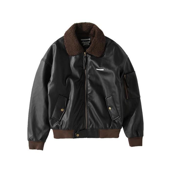 Blouson cuir noir vintage