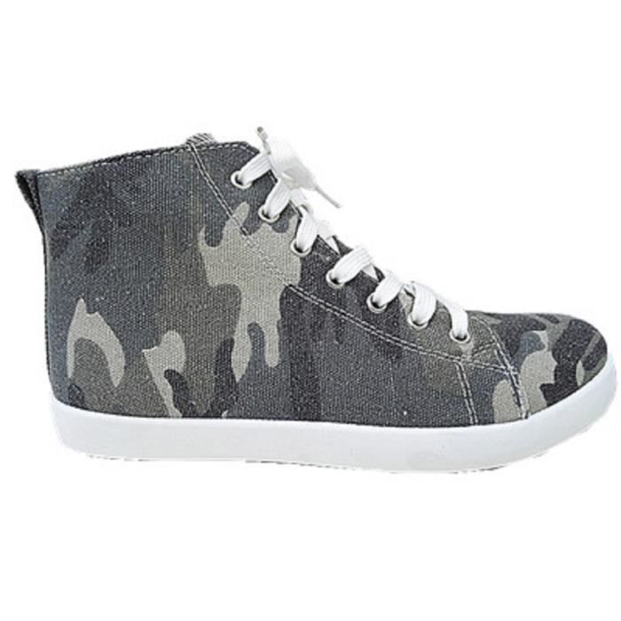 Fashionfolie888 - Baskets montante camouflage femme militaire army toile mode fille F165 CAMOUFLAGE awB2er