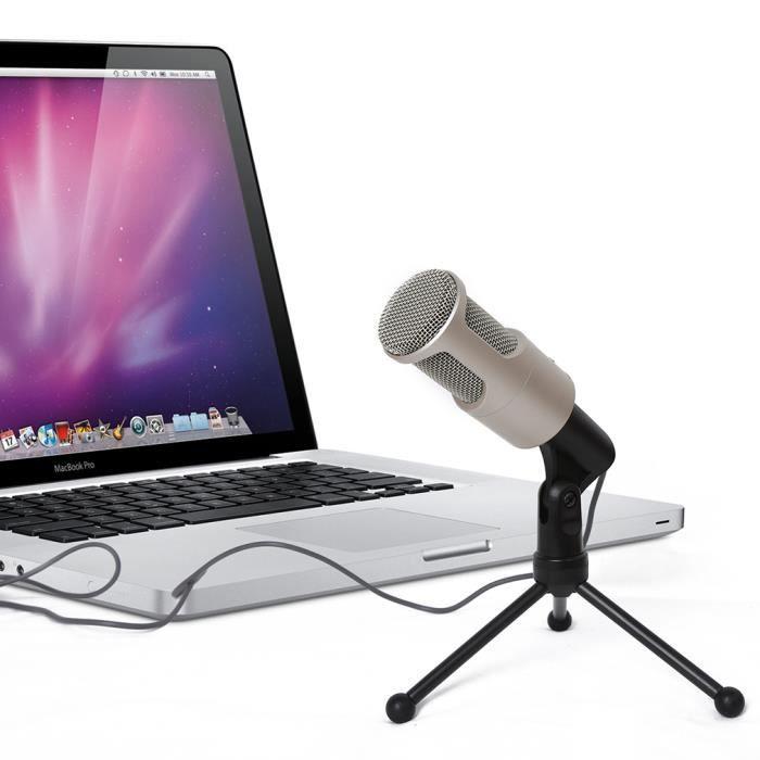 Microphone Filaire Professionnel Avec Support De Sf-960 Pour Ordinateur Portable Émettant En Karaoké
