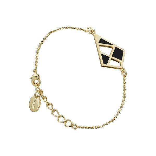 Bracelet chaîne The Nest, noir opaque