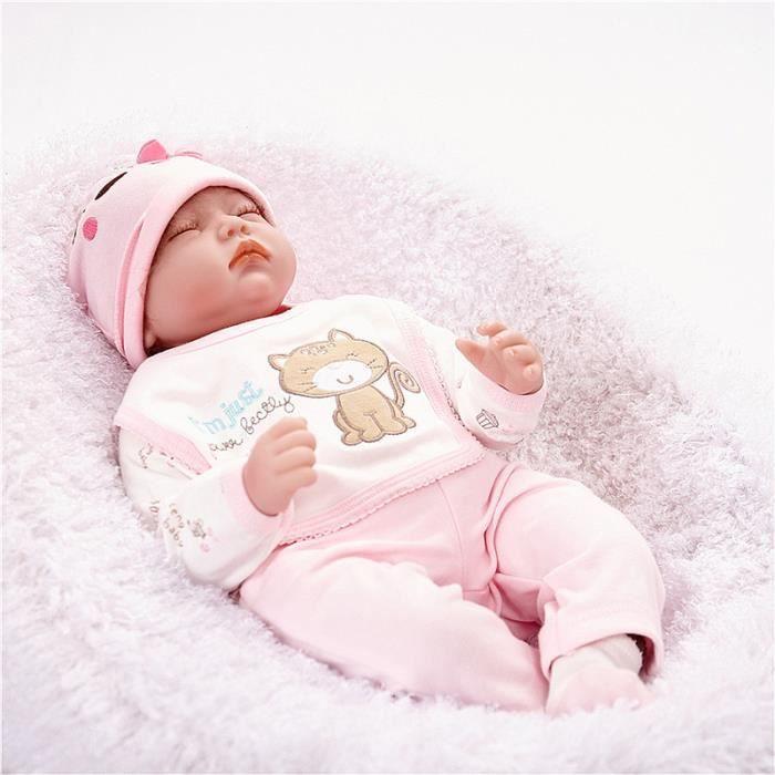 ce62a9a813f18 TEMPSA Reborn Bébé Réaliste Poupée 55cm Nouveau-né Enfant Fille ...