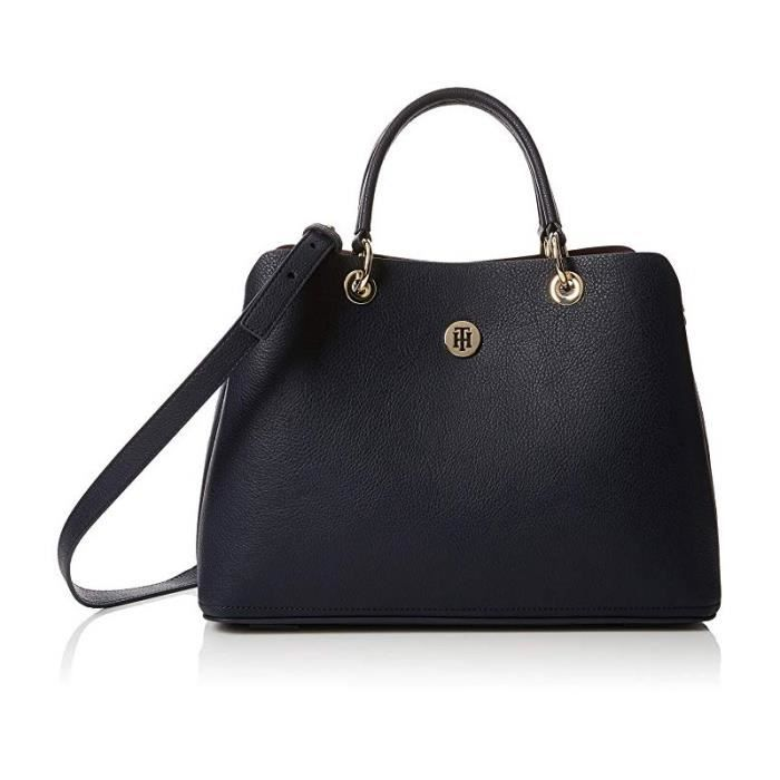 31a8e46235f Sac à main Tommy Hilfiger TH Core Satchel Bleu Navy - Achat   Vente ...