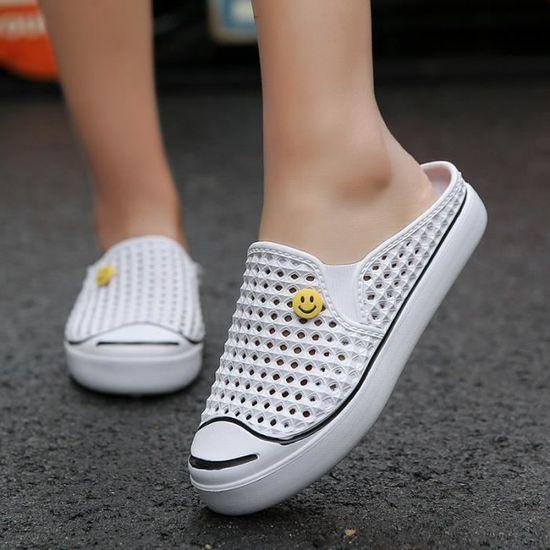 Femmes Plage Trou Pantoufles Chaussures Été Hommes De 5AL3R4cjq