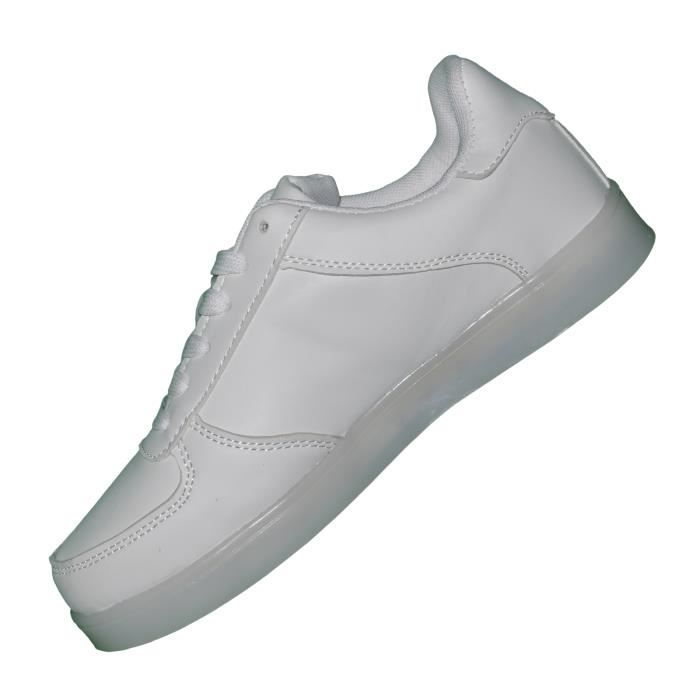 Cocoperla - Baskets Lumineuses Led - 1154 Sport - Blanc Blanc
