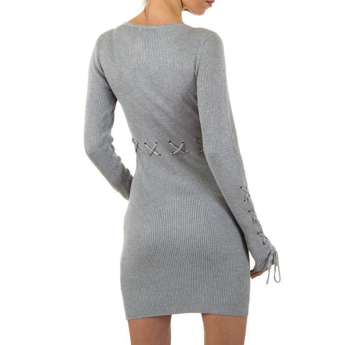femmes robe à nervure tunique Meni gris ONE SIZE