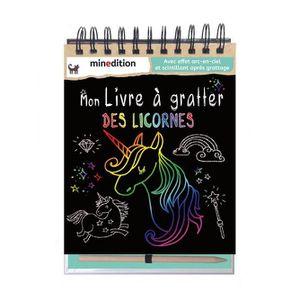 LIVRE LOISIRS CRÉATIFS Mon livre à gratter des licornes