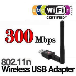 CARTE RÉSEAU  300M Clés USB 2.0 Adaptateurs WIFI AVEC Antenne Do