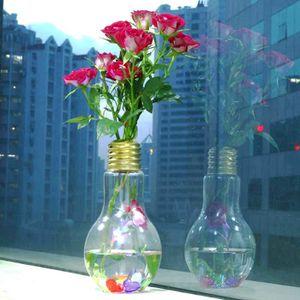 VASE - SOLIFLORE Lumière Rougeoyante Ampoule Forme Stand Vase Fleur