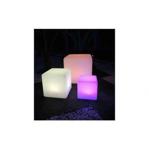 BALISE   BORNE SOLAIRE Un Cube Lumineux Qui Illuminera Votre Jardin ! Ce