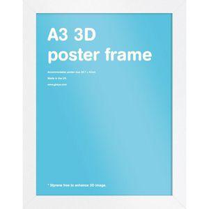 BAGUETTE D'ENCADREMENT Cadre pour affiche 3D Format A3 Noir 42 x 29,7cm (