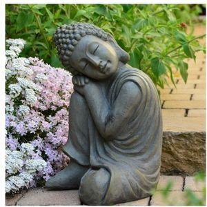 STATUE - STATUETTE   Statue Bouddha jardin décoration Zen 43 cm