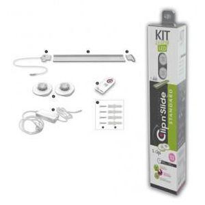 AMPOULE - LED CLIP N'SLIDE-Réglette 2 Lumières LED Aluminium L10