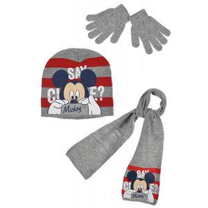 BONNET - CAGOULE Ensemble écharpe, bonnet et gants Mickey c4d3cb3d68e