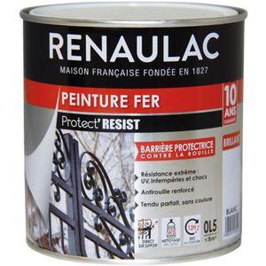 PEINTURE - VERNIS RENAULAC Peinture Fer Blanc - Brillant - Garantie