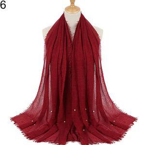 ECHARPE - FOULARD Écharpe de foulard en coton hijab pour foulards de 469d5a8a6f6