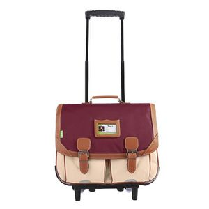 CARTABLE Cartable Trolley 41 cm Tann's Iconic Grenat sable
