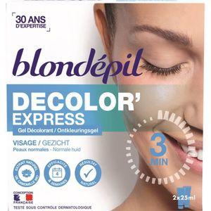 DÉCOLORATION POILS BLONDEPIL Gel décolorant Decolor'express - Pour vi