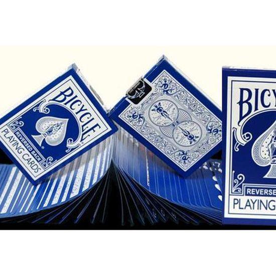 Carte Bicycle Cdiscount.Jeu Bicycle Reverse Bleu Fonce Cartes Bicycle Ic