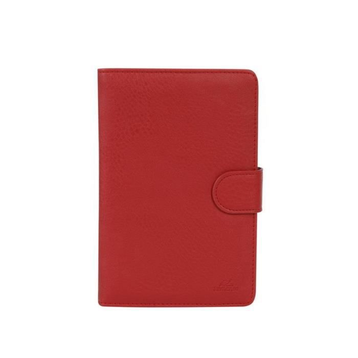 RIVACASE Etui tablette universel Orly 7 '' - Cuir - Rouge