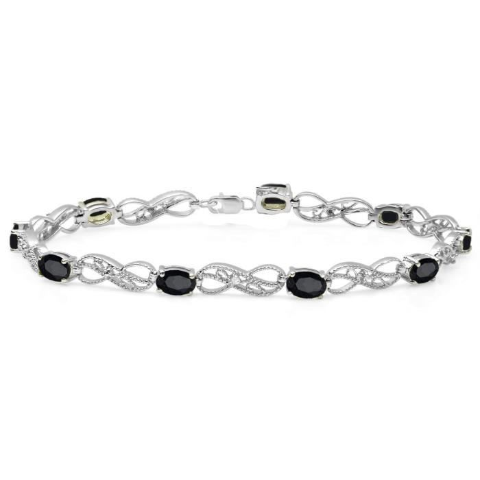 argent sterling pour femme Infinity lien Tennis Bracelet DVVQL