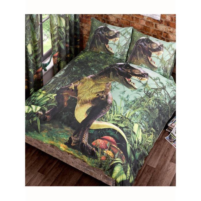 housse de couette 200x200 dinosaure achat vente housse de couette 200x200 dinosaure pas cher. Black Bedroom Furniture Sets. Home Design Ideas