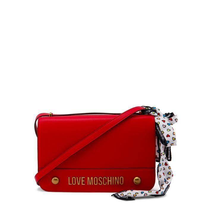Sac à bandoulière rouge détail ruban femme Love Moschino Rouge