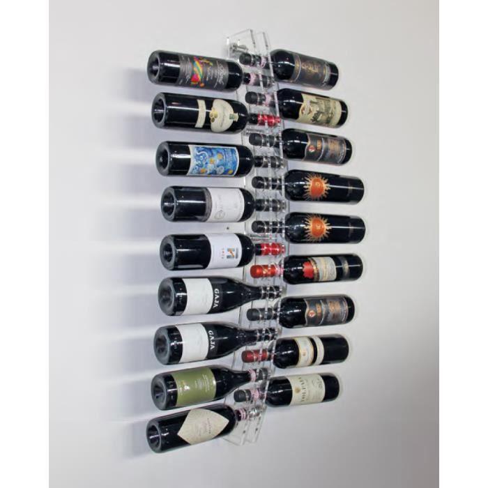 SOBRIO Support Mural En Plexiglas Transparent Pour Bouteilles - Porte bouteilles mural