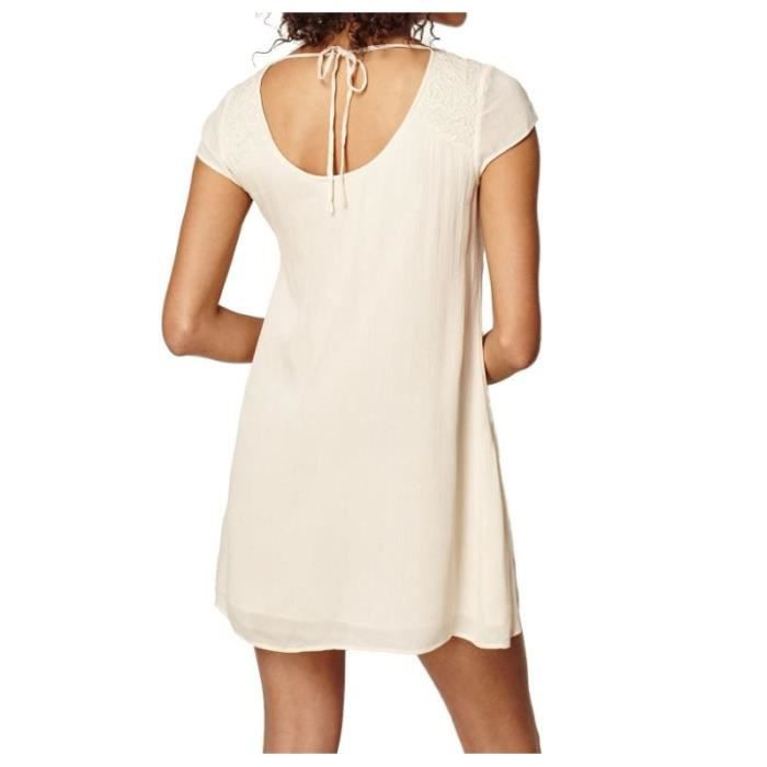 Robe Oneill Embroidered Dress Creme Brulee