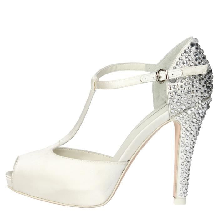 Luciano Barachini Open Toe Chaussures Femme Blanc, 40