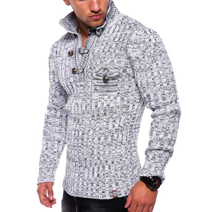058ae2548004c Pull tendance pour homme Pull tz406 blanc Blanc - Achat   Vente pull ...