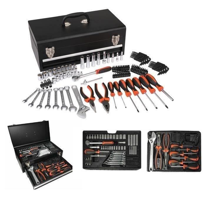 COFFRET OUTILLAGE MANUPRO Caisse à outils de mécanicien - 129 outils