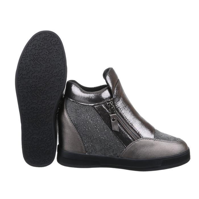 Femme chaussures bottillon loisirs chaussuresBronze 39